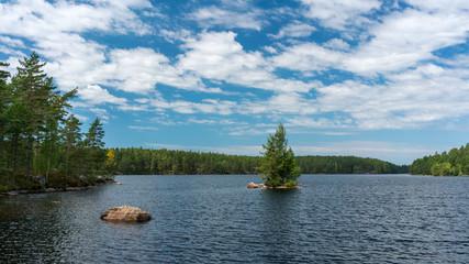 Typical swedish lake landscape