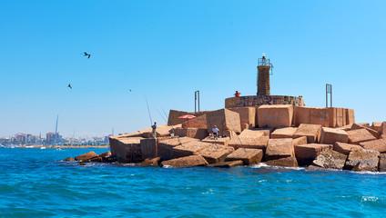 Foto auf AluDibond Leuchtturm Lighthouse of Torrevieja. Spain