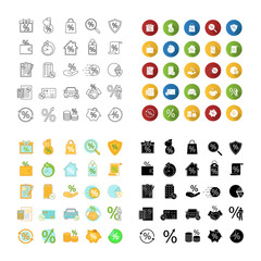 Percents icons set