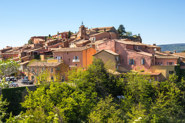 Fototapete - Village of Roussillon in the Provence