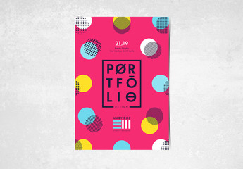Flyer Layout with Colorful Circular Elements