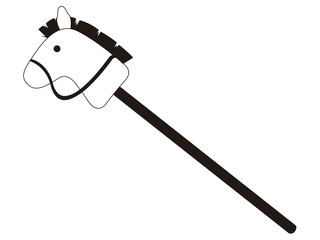 Isolated horse stick toy icon