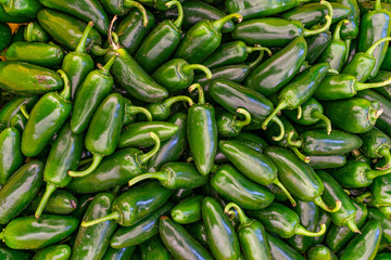 Canvas Prints Hot chili peppers Pile of Jalapeno peppers for sale