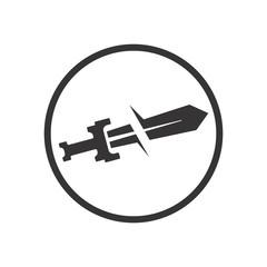 Sword logo. Knight Icon. Warrior Symbol. Vector eps 08.