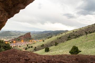 Red rocks during rainstorm 5