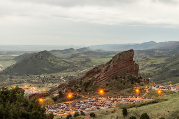Red rocks during rainstorm 3