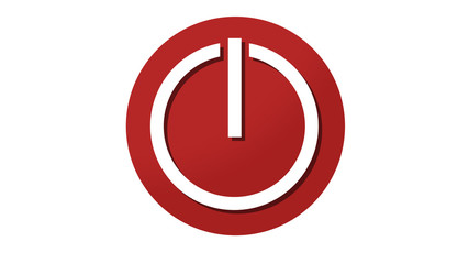 Turn on Power button icon symbol red