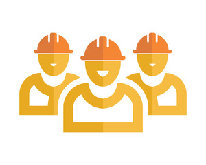 silhouette worker foreman repairman labor man image vector icon logo