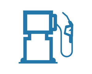 blue gas station oil refinery industry industrial business company image vector icon logo symbol