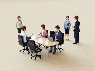 会議室と人々