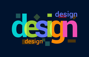 Design Colorful Overlapping Vector Letter Design Dark Background