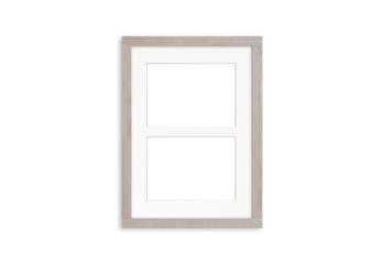 Wooden photo frame mock up for two pictures
