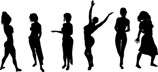 女性ダンサーのシルエット