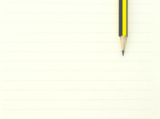 black, yellow pencil brown tool art on paper note background