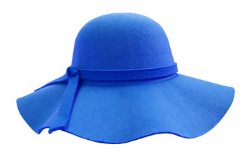Blue hat  isolated on white background