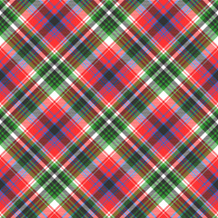 Red green color check seamless fabric texture