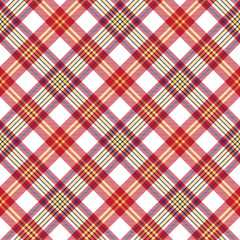 White red check seamless fabric texture