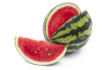 summer fruit, watermelon isolated