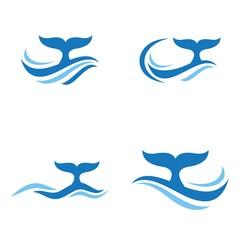 whale waves logo