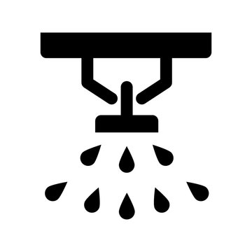Sprinkler, fire extinguisher solid icon. vector illustration isolated on white. glyph style design, designed for web and app. Eps 10