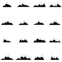 mountain icon set