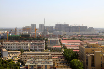 overlooking cottage in the city, in China