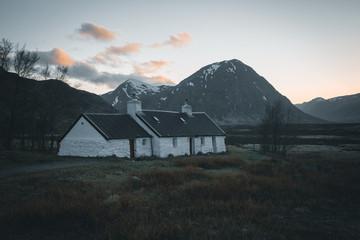 UK, Scotland, Isle of Skye Landscape with cottage