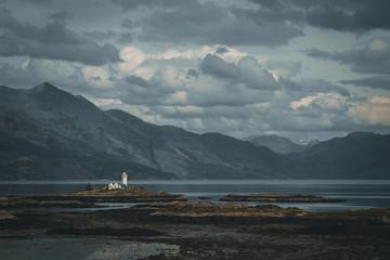 UK, Scotland, Isle of Skye Landscape with Lighthouse