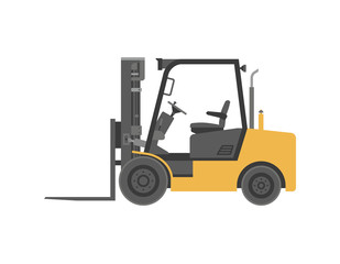 Forklift truck. flat style. isolated on white background