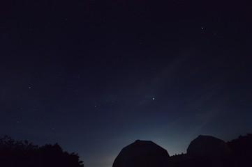 日没後の天文台
