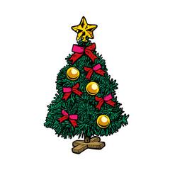 Christmas tree. Isolate on white background