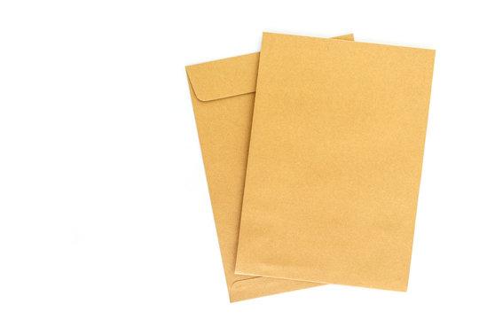 brown envelope letter on white background