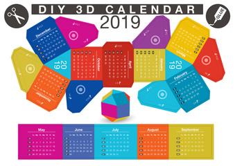 DIY Paper Ball Calendar 2019 - White