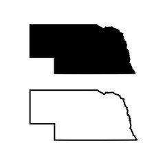 the map of the state of Nebraska. vector illustration