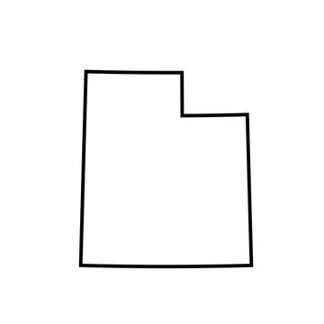 map of Utah. vector illustration
