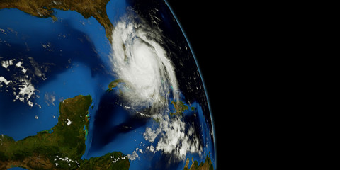 Extremely detailed and realistic high resolution 3D illustration of a Hurricane