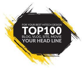Hi-Tech detailed element for title header