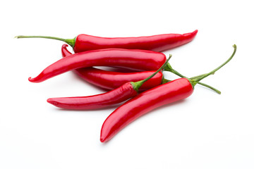 Canvas Prints Hot chili peppers Red chilli pepper isolated on a white background.