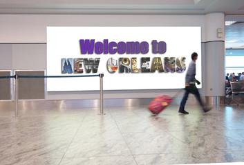 New Orleans airport traveler