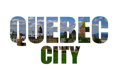 Quebec City on white