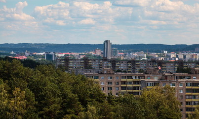 Vilnius from hill