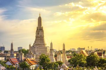 Poster Bangkok Wat Arun Temple in the sunset time, Wat Arun is a Buddhist temple in Bangkok Yai district of Bangkok, Thailand.