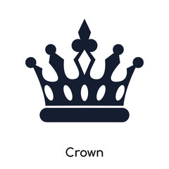 crown icons isolated on white background. Modern and editable crown icon. Simple icon vector illustration.