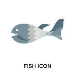 fish icons isolated on white background. Modern and editable fish icon. Simple icon vector illustration.