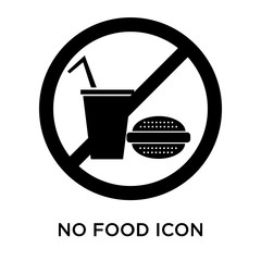 No food icon vector sign and symbol isolated on white background, No food logo concept