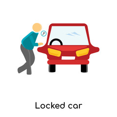 locked car icon isolated on white background. Simple and editable locked car icons. Modern icon vector illustration.