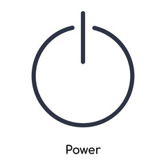 power icon isolated on white background. Simple and editable power icons. Modern icon vector illustration.