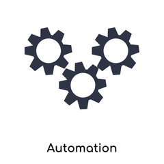 Automation icon vector sign and symbol isolated on white background, Automation logo concept