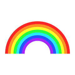 Vector color rainbow. Cartoon flat icon. Illustration