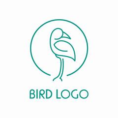 Minimalist Bird Logo Design Concept Creative
